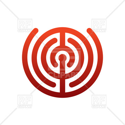 400x400 Labyrinth Logo Royalty Free Vector Clip Art Image