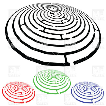 453x453 Round Maze Designs Royalty Free Vector Clip Art Image