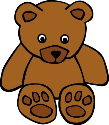 371x425 Simple Teddy Bear Clip Art Clip Arts, Free Clip Art