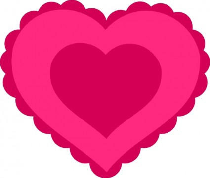 425x359 Pink Lace Heart Clip Art Vector Clip Art Free Vector Free Download