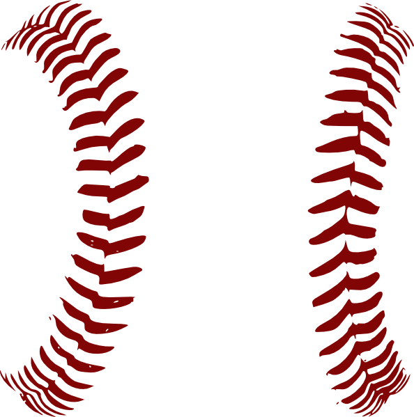 594x599 Red Softball Laces Only Clip Art