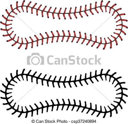 450x436 Baseball Lace Background. Softball, Baseball Red Lace Over Eps
