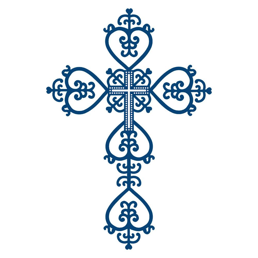 1000x1000 Blue Cross Clip Art
