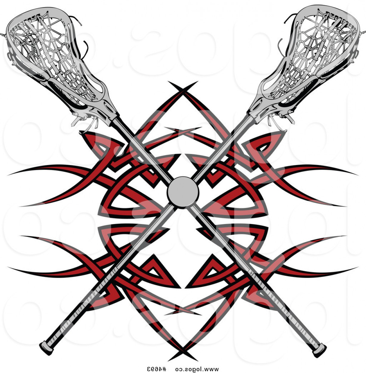 1228x1252 Royalty Free Clip Art Vector Logo Of A Lacrosse Ball And Crossed