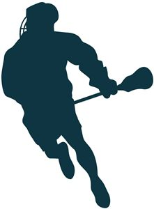 221x300 Sports Clipart Image Of Black White Lacrosse Player Running Mens