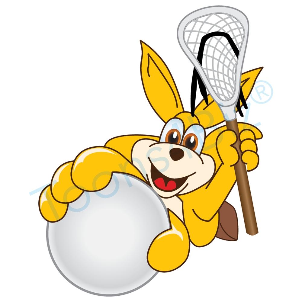 1000x1000 Kangaroo Mascot Clip Art On Lacrosse Team
