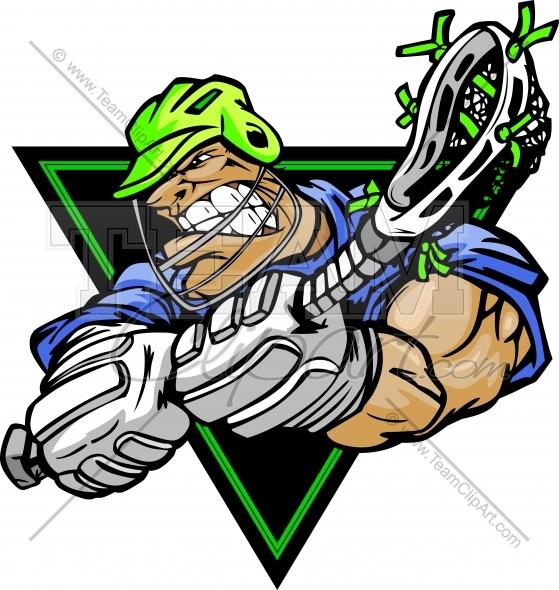 559x590 Lacrosse Cartoon Logo Graphic Image. Vector Format.