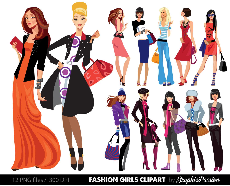 1500x1208 Fashion Lady Clip Art Fashion Girl Digital Shopping Ladies Clipart