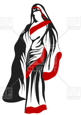 283x400 Silhouette Of Sari Woman Royalty Free Vector Clip Art Image