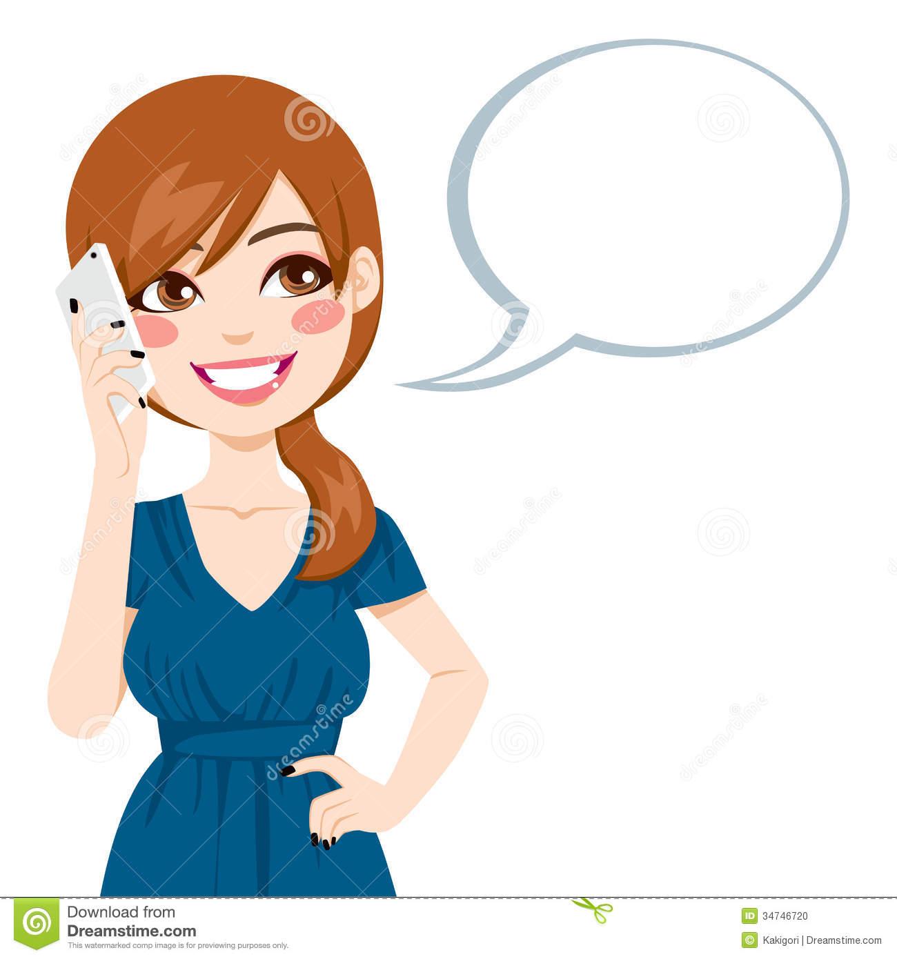 1300x1390 Charming Idea Speaking Clipart Girl On Phone 8 Clip Art Net
