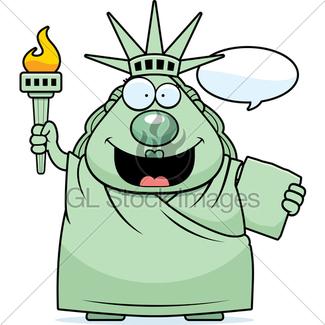 325x325 Sad Cartoon Statue Of Liberty Gl Stock Images