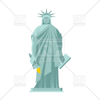 400x400 Sad Statue Of Liberty Royalty Free Vector Clip Art Image