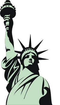 201x350 Statue Of Liberty Clipart