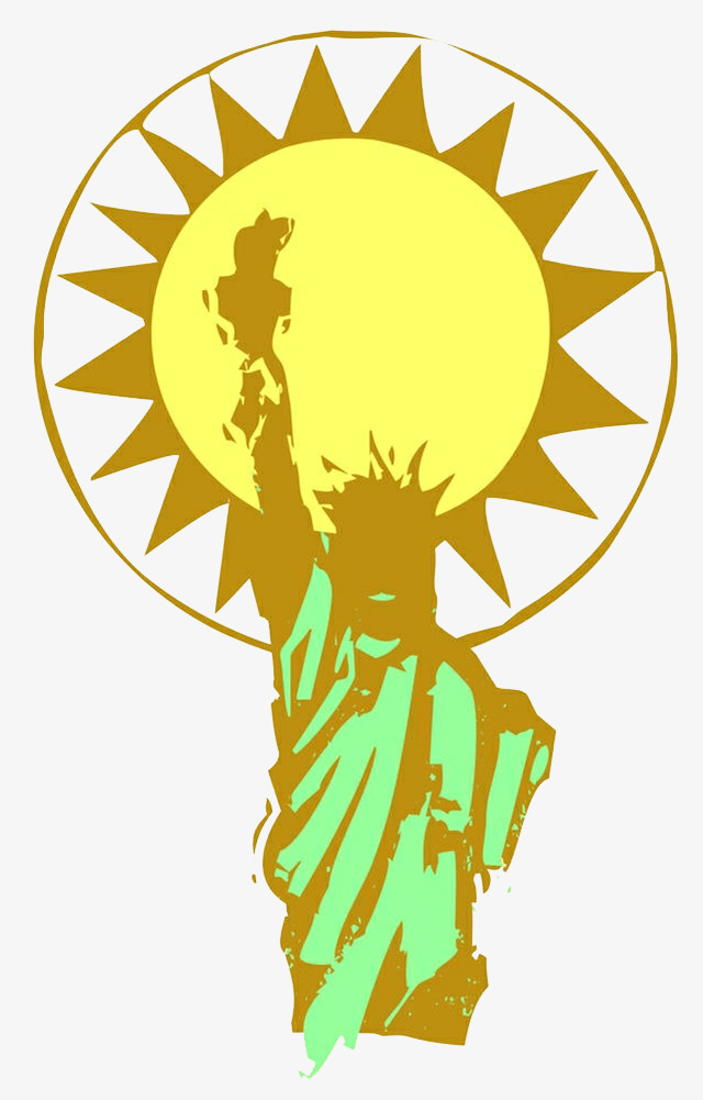 640x1001 Hand Painted Statue Of Liberty Sun, Statue Of Liberty, Free Woman