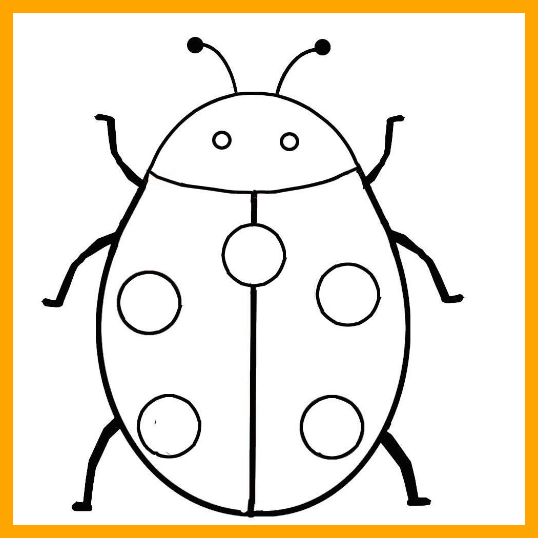 1050x1050 Fascinating Ladybird Coloring Page Kids Of Ladybugs Popular And
