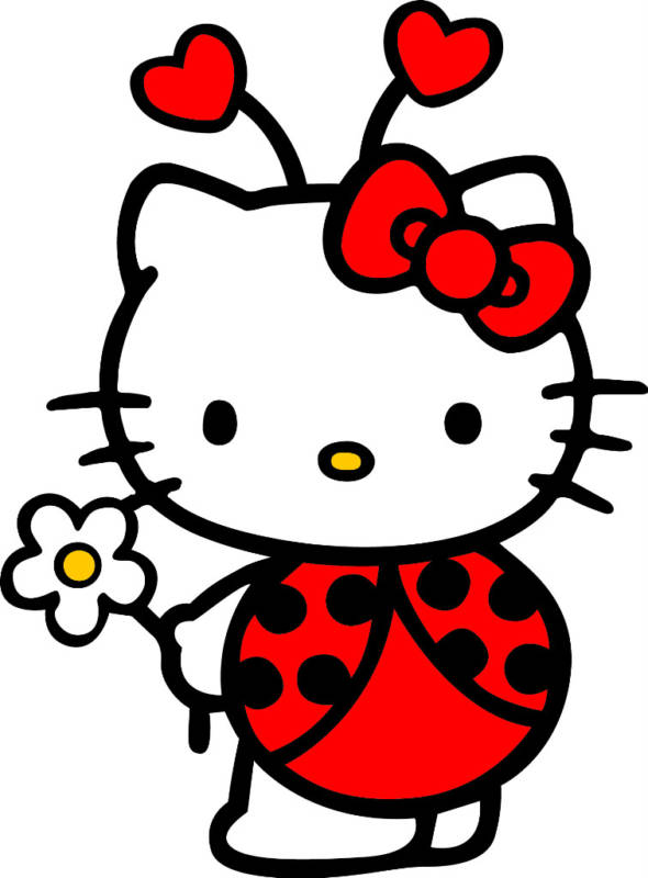 590x800 Hello Kitty Ladybug Coloring Pages