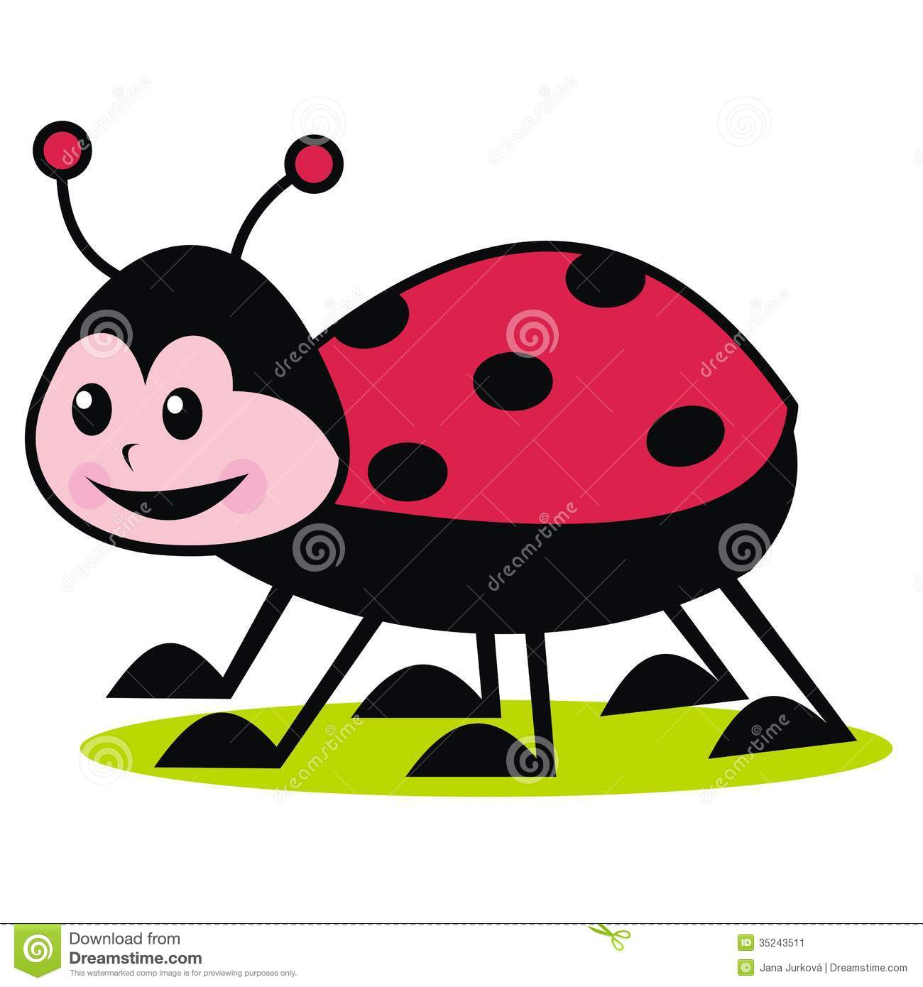 1300x1390 Simplistic Ladybug Pictures For Kids Stock Vector Illustration