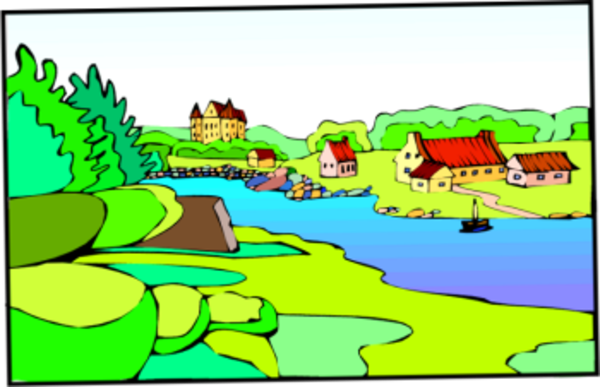 600x387 Town By Lake Free Images