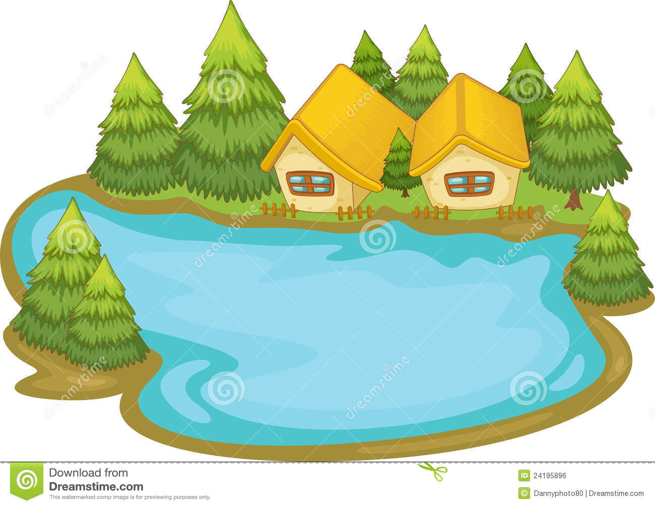 1300x1007 Cartoon Lake Clipart