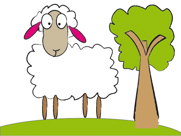 600x451 Sheep Lamb Clipart Black And White Free Clipart Images Clipartix 4