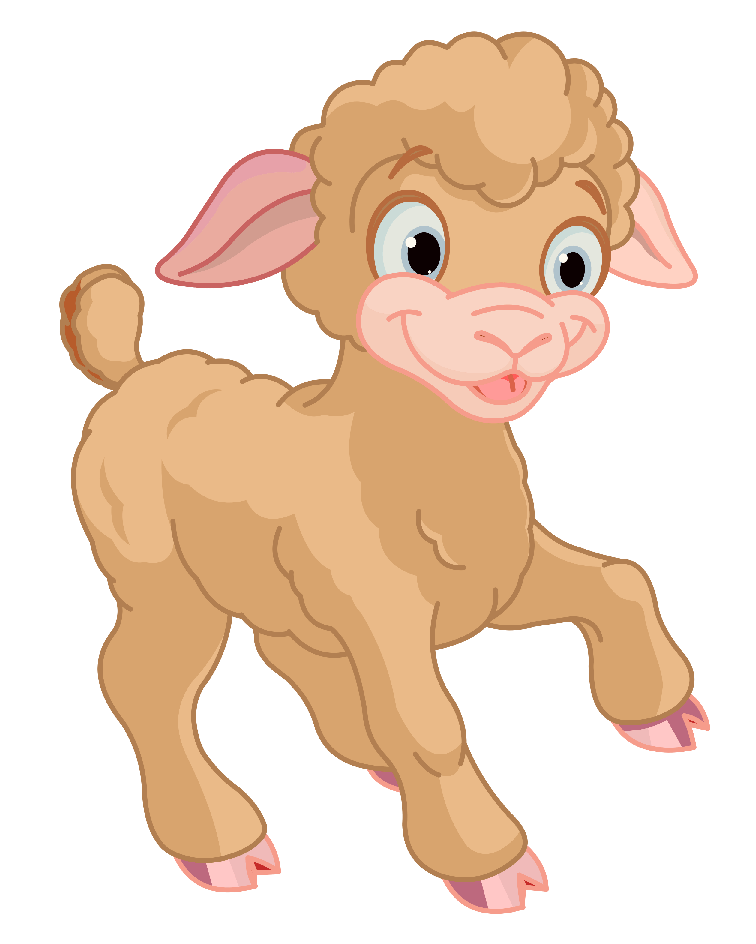 2520x3147 Easter Lamb Clipart Merry Christmas And Happy New Year 2018