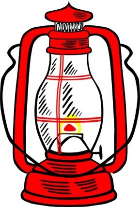 289x425 Free Download Of Red Hurricane Lamp Clip Art Vector Graphic