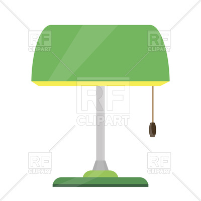 400x400 Green Table Lamp Or Reading Lamp Royalty Free Vector Clip Art