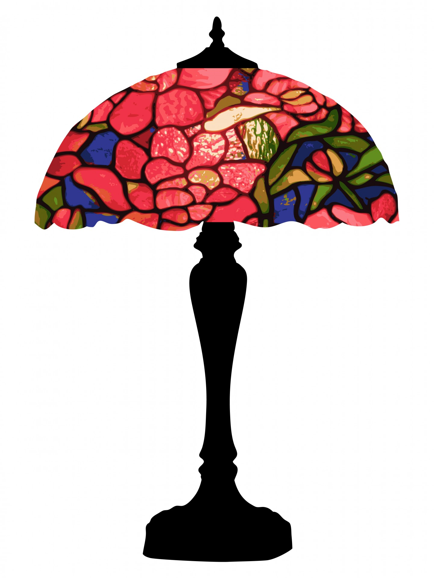 1440x1920 Tiffany Lamp Colorful Clipart Free Stock Photo