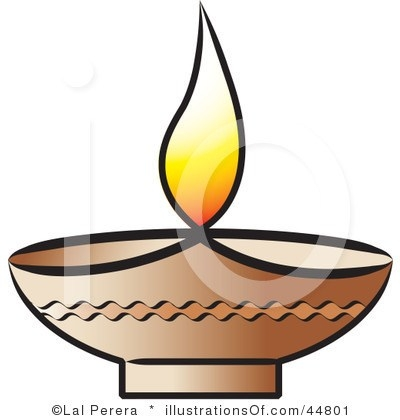 400x420 Traditional Oil Lamp Clip Art