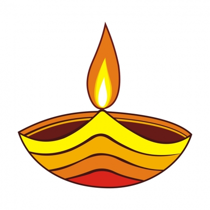 425x425 Traditional Oil Lamp Clip Art