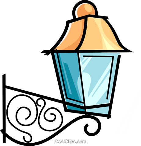 462x480 Outside Lamp Royalty Free Vector Clip Art Illustration Vc038585