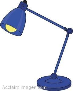 239x300 Blue Adjustable Neck Lamp