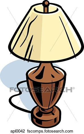 297x470 Clip Art Of Drawing A Table Lamp Apl Search Clipart