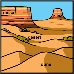 304x304 Clip Art Landforms 2 Color Labeled I Abcteach