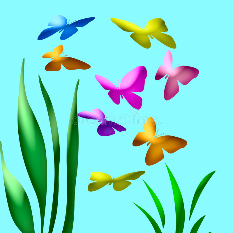 800x800 Landscape Clipart Butterfly Garden Pencil And In Color