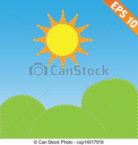 449x470 Landscape With Stitch Style Background