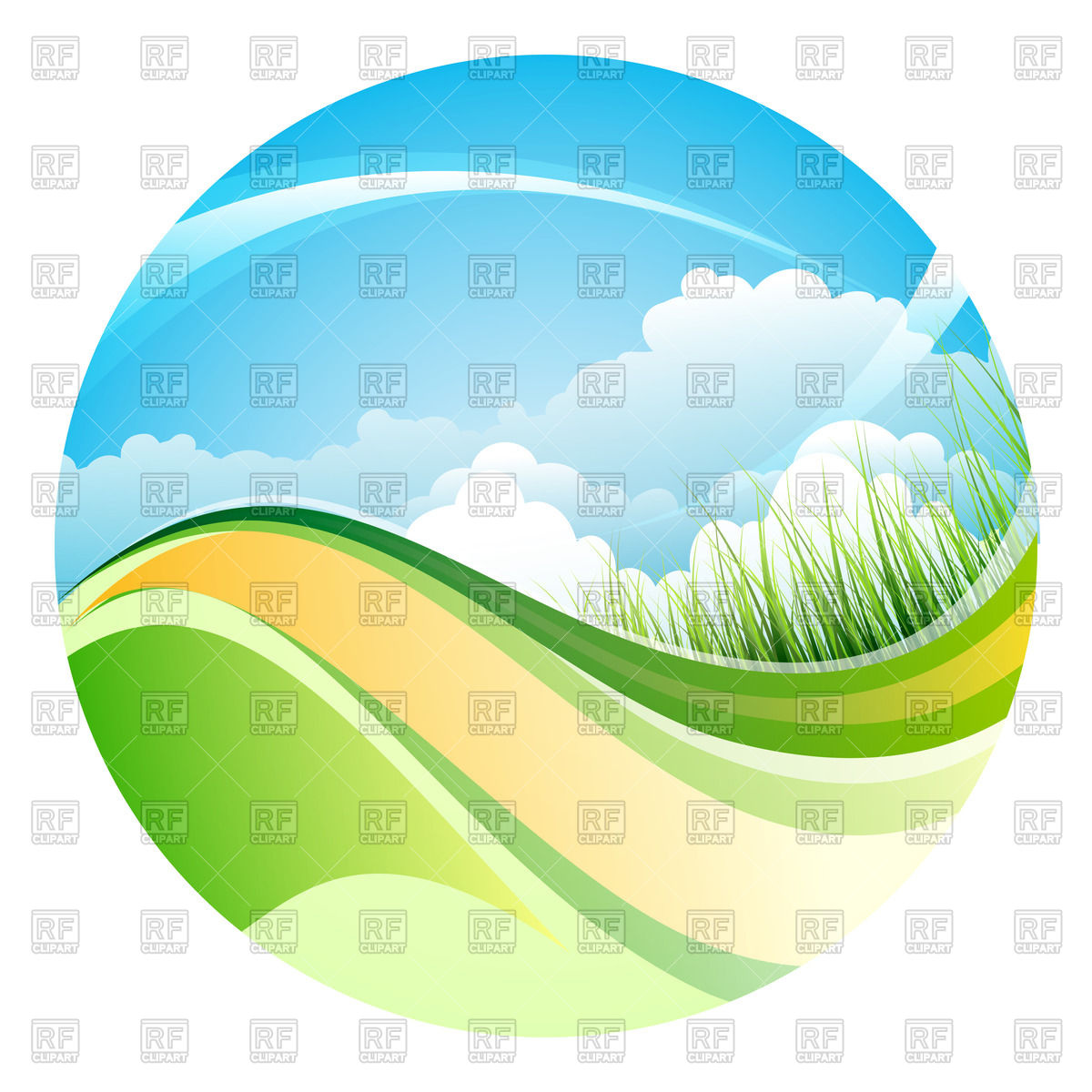 1200x1200 Shiny Summer Landscape