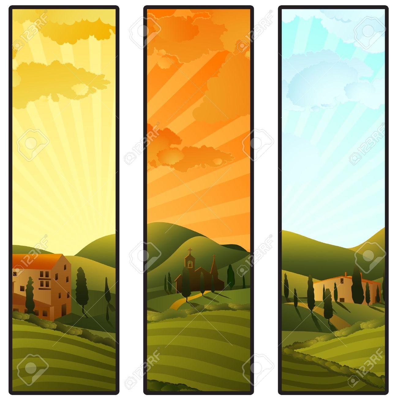 1300x1300 Tuscan Landscape Clipart
