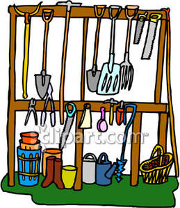 259x300 Garden And Landscaping Tools In A Shed