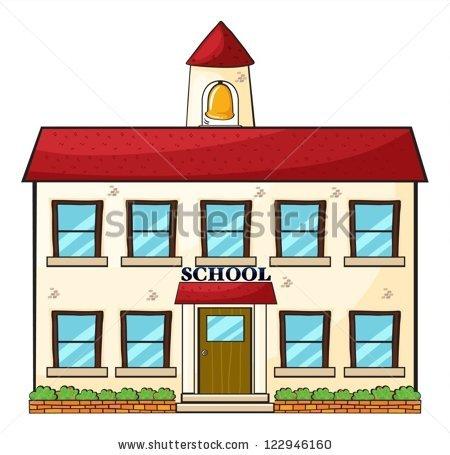 450x455 Free Clip Art Pictures School Buildings