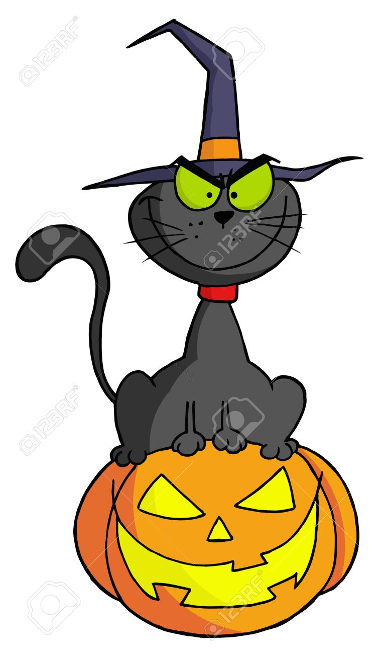 765x1300 Black Cat Clipart Jack O Lantern