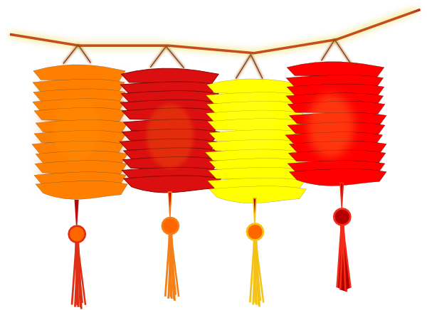 600x436 Paper Lanterns Clip Art