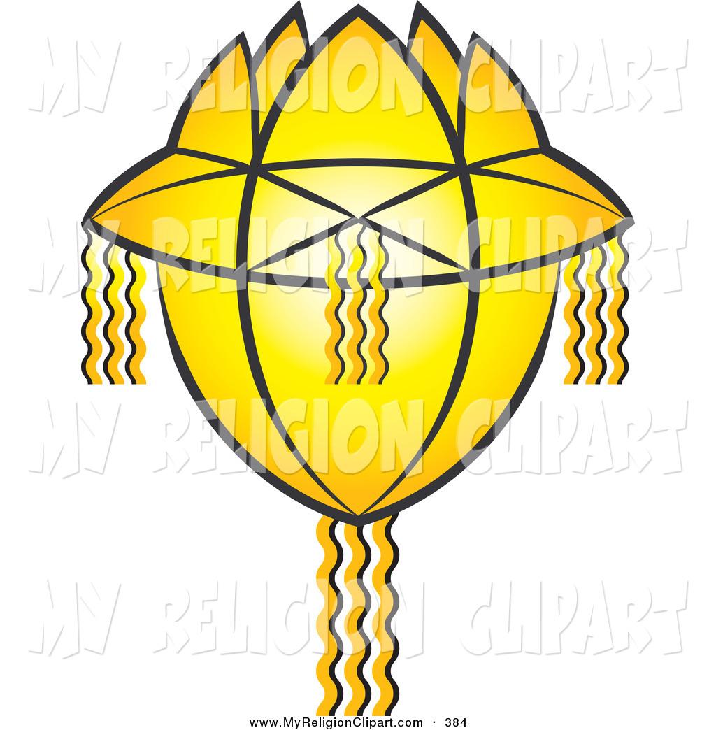 1024x1044 Religion Clip Art Of A Glowing Yellow Vesak Koodu Lantern