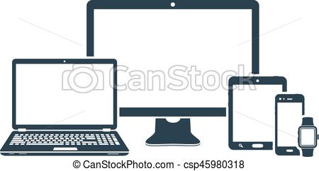 450x242 Device Icons Desktop Computer, Laptop, Smart Phone, Tablet