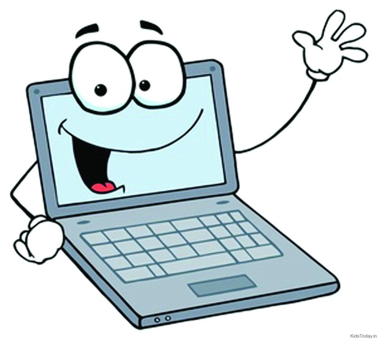 1250x1125 Cartoon Laptop Clipart