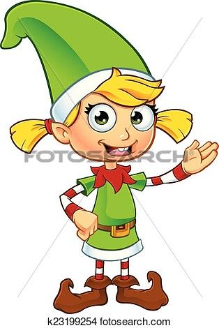 314x470 Girl Elf In Green Character Clipart Green Characters, Girl Elf