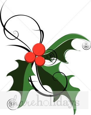 309x388 Green Holly Clip Art Christmas Clipart