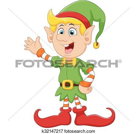 450x442 Happy Green Elf Waving Clip Art Clip Art, Elves And Christmas
