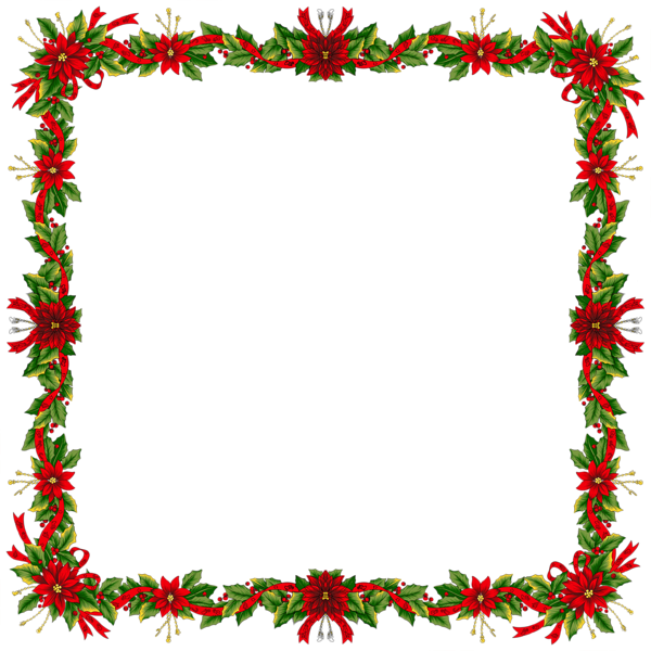 600x600 Christmas Frames Large Christmas Transparent Png Photo Frame