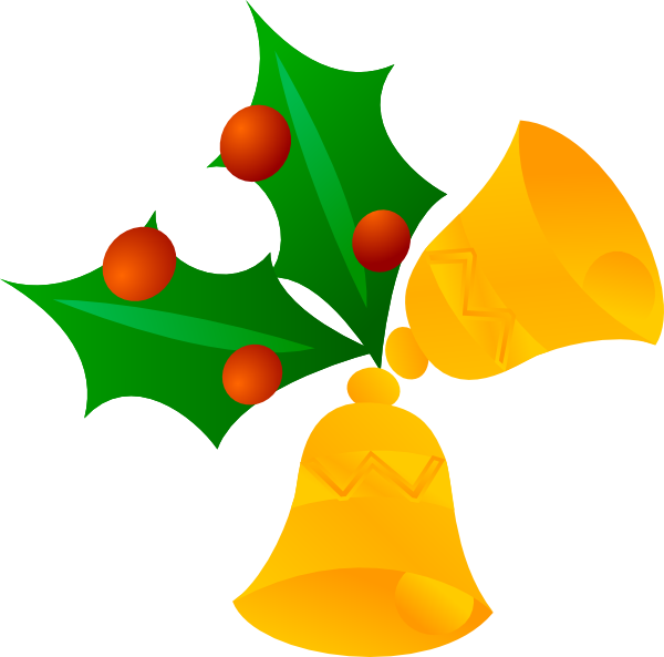 600x593 Christmas Bells (Rotated) Clip Art